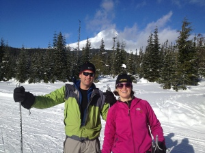Greg and I with Mt. Hood in the background