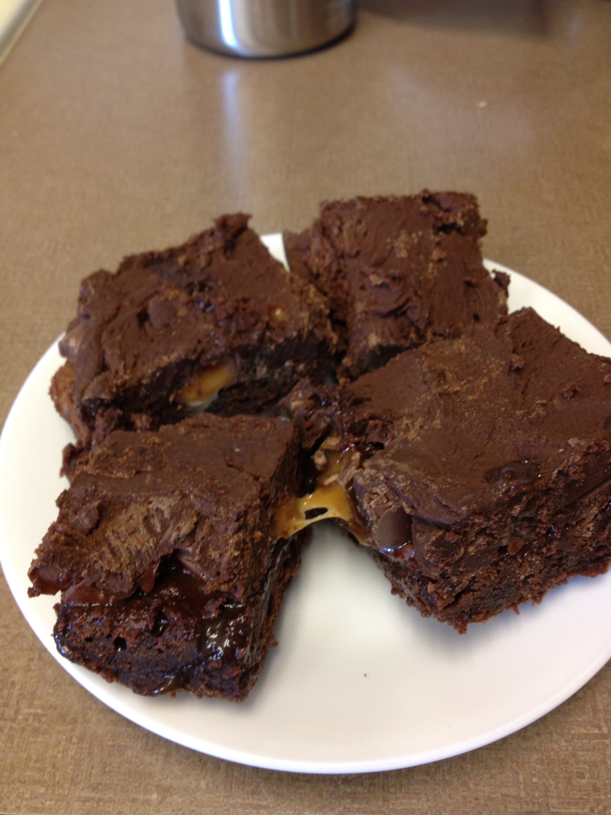 Fudge Rolo Brownies | Triathlete Treats