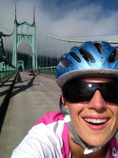 Going over the St. John's Bridge!