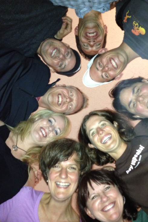 From the top: upside down:clockwise: Randall, Dan, Crystal, Me, Robin, Jane, Sheryl, Beez, and Moaner