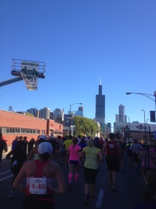 "Between 16 and 17 ""on the run"" Sears Tower (now known as Willis Tower)"
