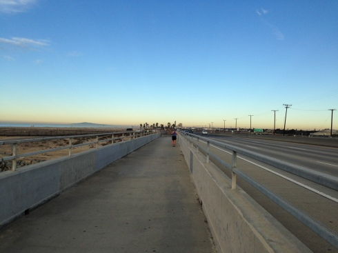 The bridge from Newport to Huntington Beach!