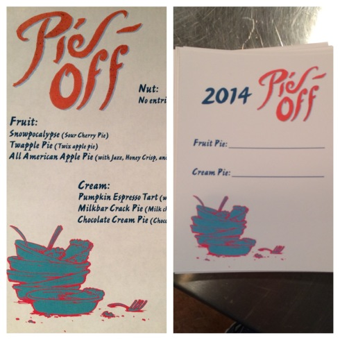 the menu and voting form