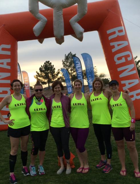 Stephanie: Runner 3; Anne: Runner 1; Laura: Runner 2; Kat: Runner 4; Erica: Runner 6; Me: Runner 5